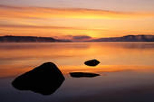 Canada, New Brunswick, Gorham Pond at dawn
