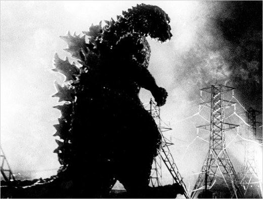 Godzilla attacks Tokyo