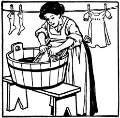 Old-fashioned hand wash laundry is till the best!