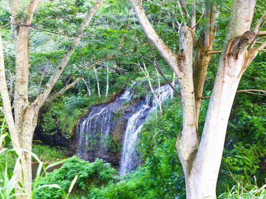 Waterfall Just Before Kalihiwai Road