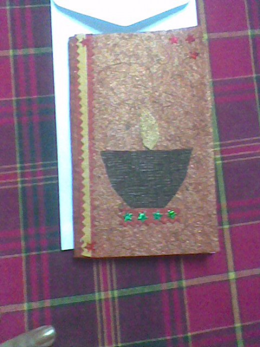Diwali Card - I made this after being inspired by a scrap booking friend of mine