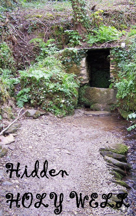 St Mawes Holy Well, St Just in Roseland, Cornwall.  Entrance path to the Holy Well.  Source: Author