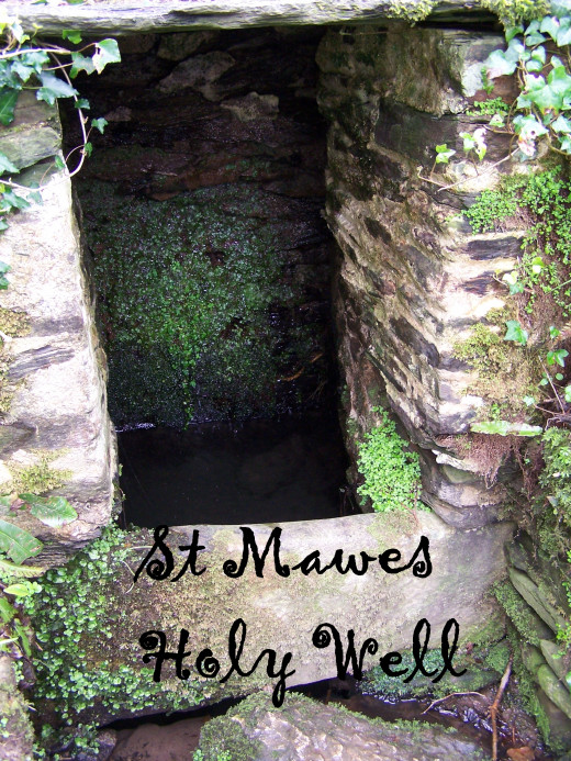 St Mawes / St Just Holy Well Close Up.  Holy Wells in Cornwall.  Source: Author