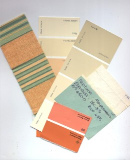Paint and fabric samples