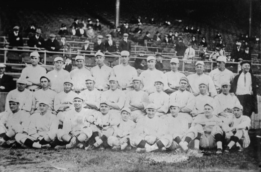 The Boston Red Sox in 1916. Just one of many historical sports images found via Wikimedia Commons.