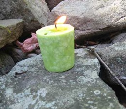 Votive spell candle.