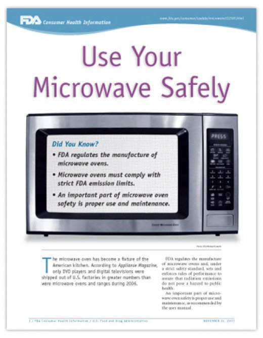 How to Use Your Microwave Oven Safely and Other Tidbits. Clicking on the FDA link will give you lots of worthy information about microwave ovens in general.