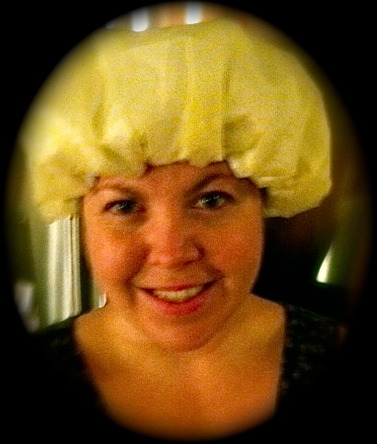 I'm fanatical about not getting any hair in my food, so if you don't have a hair net, a shower cap will have to do!