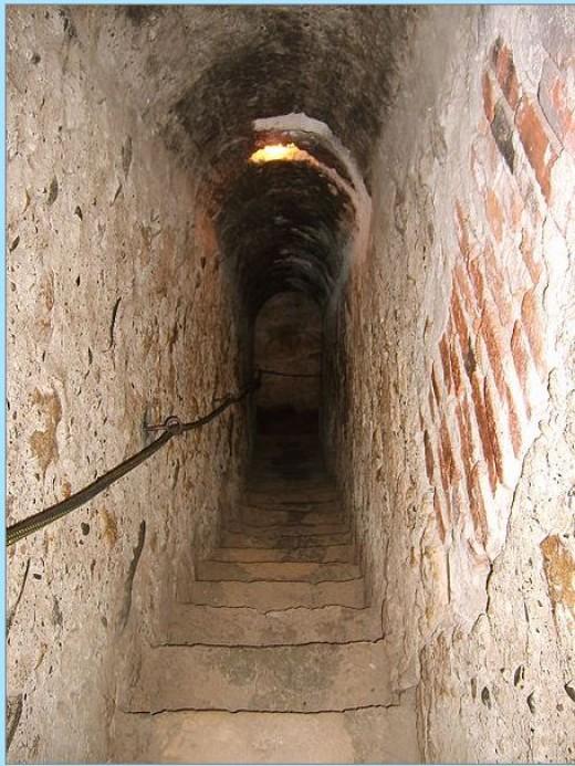A secret passage in the Bran Castle (Dracula's castle).