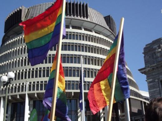 New Zealand's Government Buildings, and Pride Flags