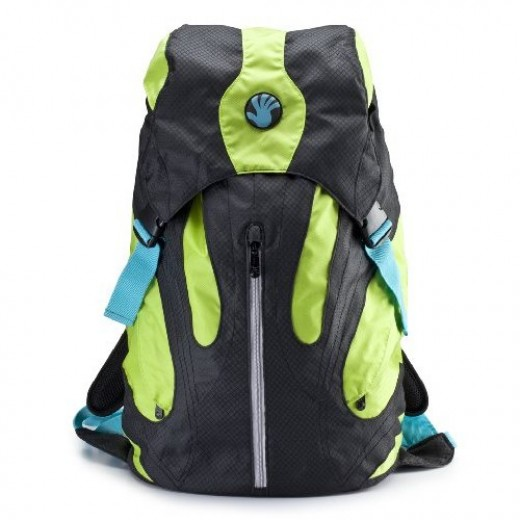Slappa Kampus 18-Inch Backpack for Laptop - Black/Green (SL-BP-KAM1802)