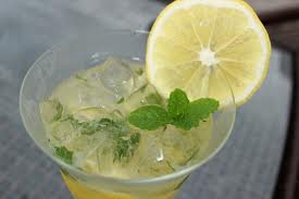 Have a cocktail! Rum, mint, lemon, soda water, and some sugar are a-okay in my book!