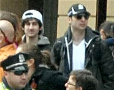 The Tsarnaev Brothers: Dzhokhar on left, Tamerlan on right