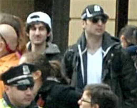 The Tsarnaev Brothers: Dzhokhar on left, Tamerlan on right