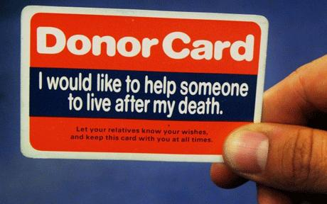 A Donor Card
