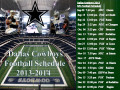 2013 Dallas Cowboys Football Schedule  NFL Preview-Prediction