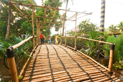 This attractive bamboo bridge will surely amaze you once you set foot to this place........