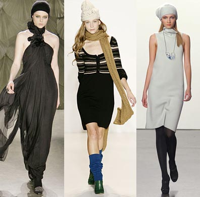 Beanies with casual and formal dresses