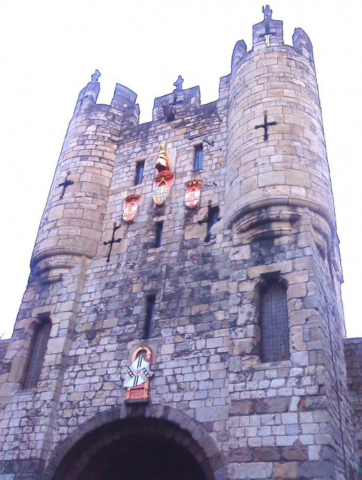 Micklegate Tower in the City of York.