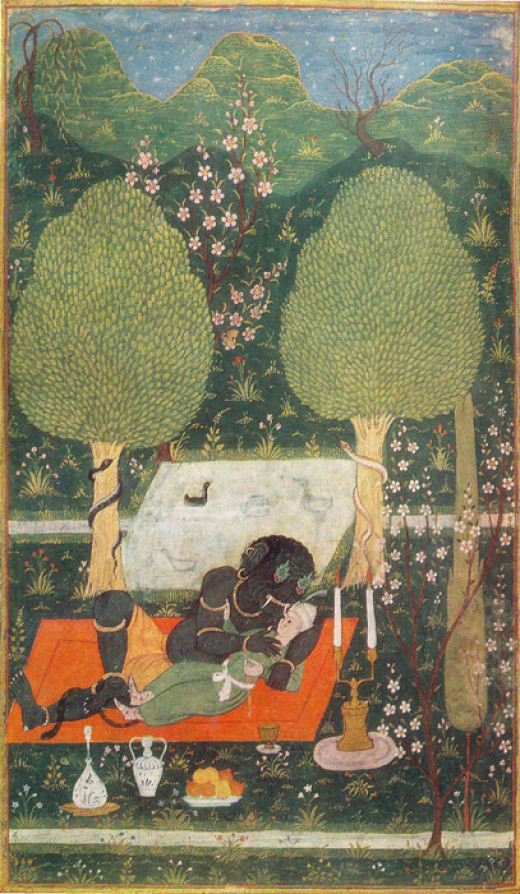 Makhan embraced by an ifrit (1648)