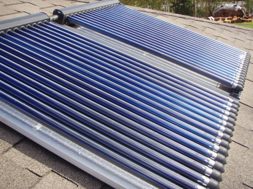 A solar collector or panel can absorb sun rays and use them to heat the water that is circulated inside it.