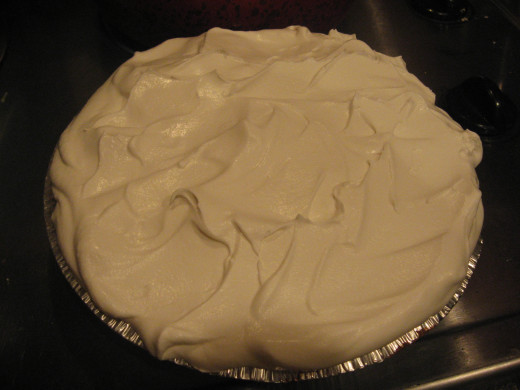 Spread Cool Whip over top of pie.