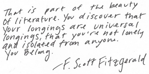 F. Scott Fitzgerald on reading