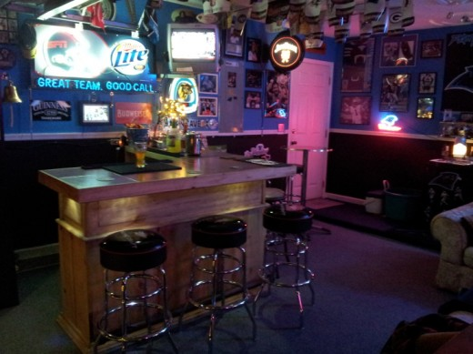 Garage converted to bar