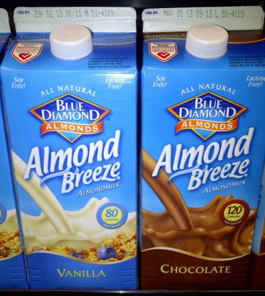 Almond Milk Varieties- Vanilla and Chocolate