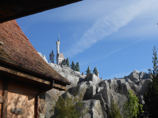 See the Beast's castle from line at Enchanted Tales With Belle, second on your list of attractions at the Magic Kingdom.
