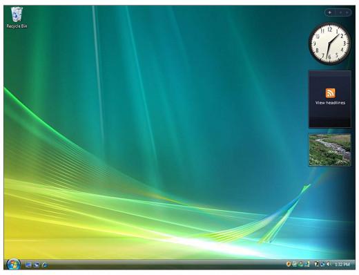 Windows Vista Desktop © Microsoft Corp.