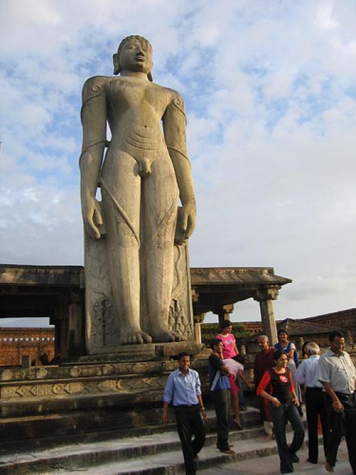 The statue of Mahavira