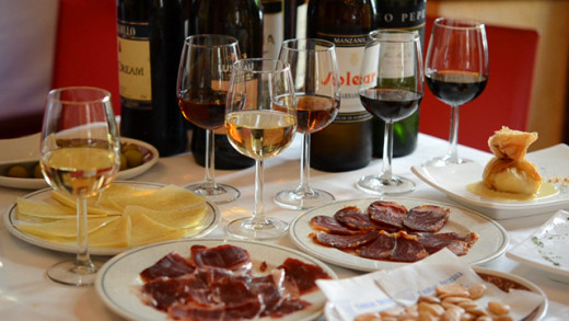 Sherry and tapas