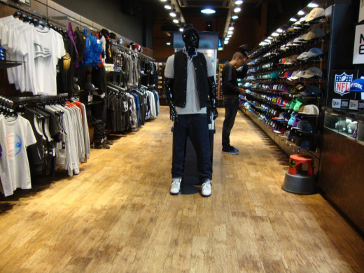 A view in one of New Era's flagship stores