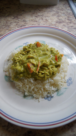 You'll Want Seconds Green Curry Chicken and Rice