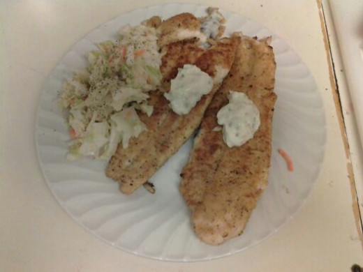 An easy and delicous breaded white fish called Blue River Swai.