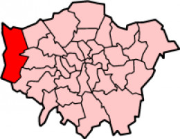 Map location of the London Borough of Hillingdon