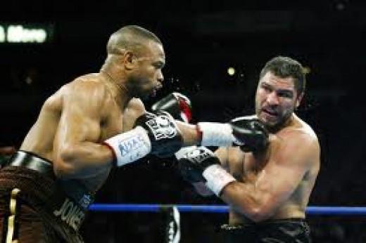 Roy Jones, Jr. beat John Ruiz to win the heavyweight championship of the world.