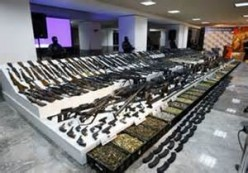 American-made weapons seized from the cartels