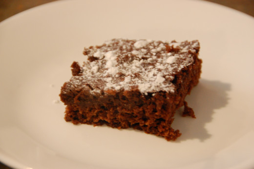 Super moist brownies, more cakey than fudgey but really yummy!