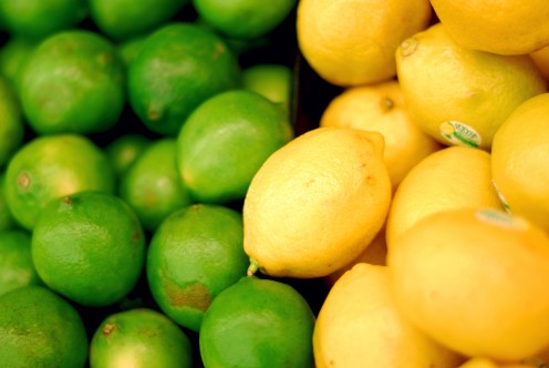 lemons and limes are full of antioxidants and Vitamin C.