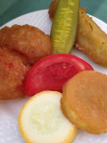 A Fried Pickle-Veggie Appetizer
