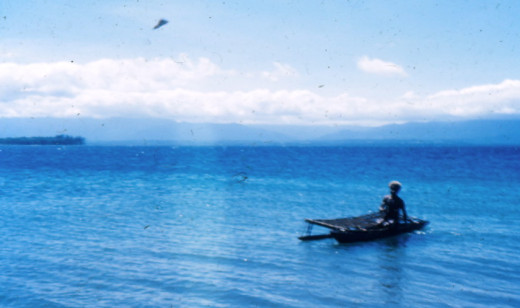 Kite Fishing From an Outrigger Canoe