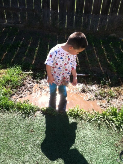 Believe it or not, and do not tell his mom, I teach my children love of dirt. Did you know some kids never really see soil for farming?