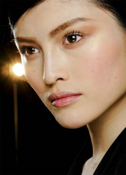Sui He, an Asian fashion model originally from China