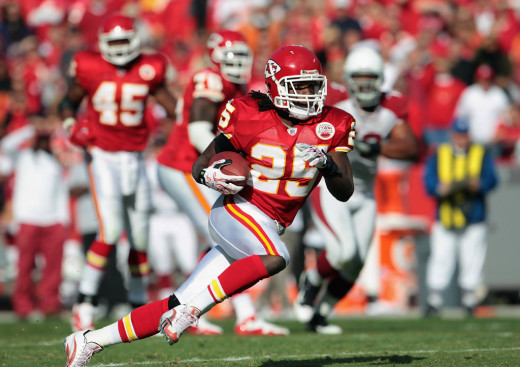 Jamaal Charles of the Kansas City Chiefs