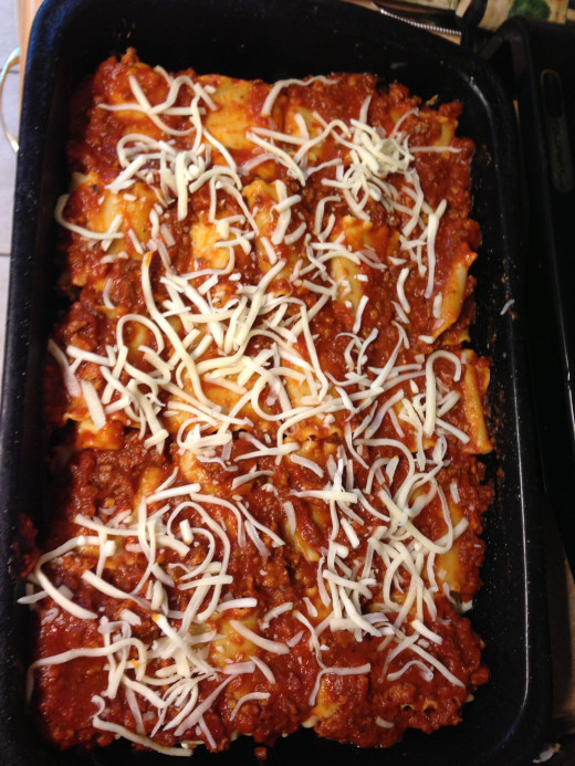 Lasagna Roll Ups with meat