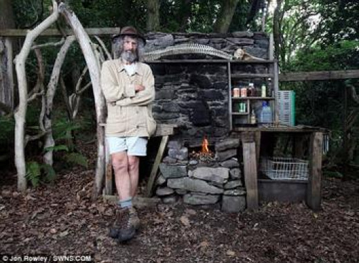 Real life Robinson Crusoe. This castaway spent 26 years building his home out of driftwood