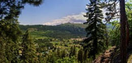 This is a view of the valley floor which you could see when hiking the Icicle Ridge trail.