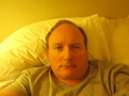 Self-portrait, sans glasses; late-evening.